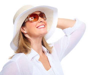 Foto für Senior Woman wearing sunglasses and a hat. Summer vacation. - Lizenzfreies Bild
