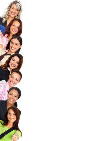 Smiling  businesswomen. Isolated over white background \r