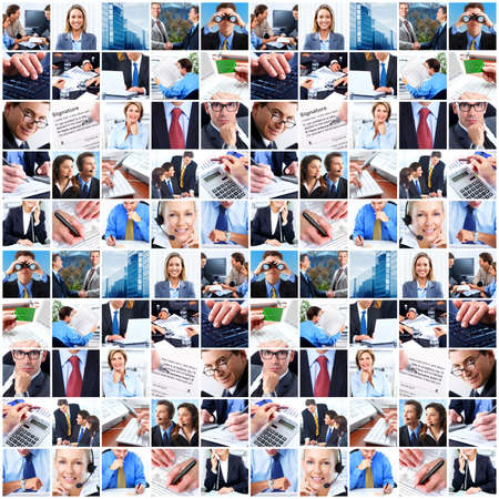 Collage of business people.