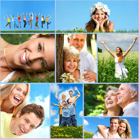 Photo for Happy people collage. - Royalty Free Image