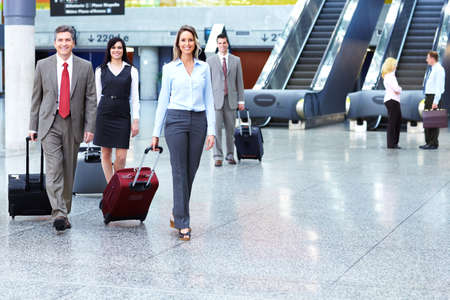 Group of business people at the airport