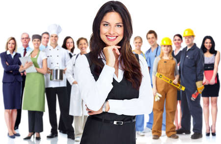Photo for Business woman and group of workers people  - Royalty Free Image