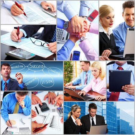 Photo pour Business people team collage  - image libre de droit