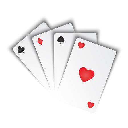 Ilustración de playing cards - Imagen libre de derechos