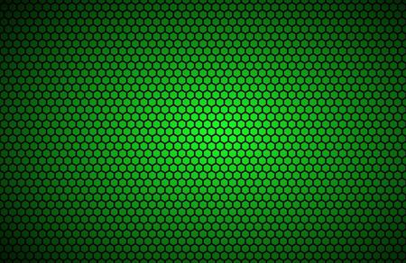 Illustration pour Geometric polygons background, abstract green metallic wallpaper, vector illustration - image libre de droit