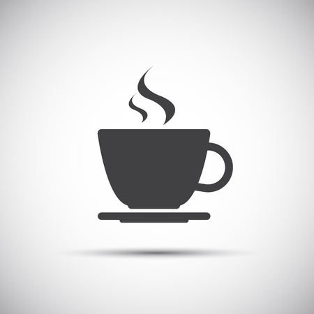 Foto per Simple vector coffee icon isolated on white background - Immagine Royalty Free