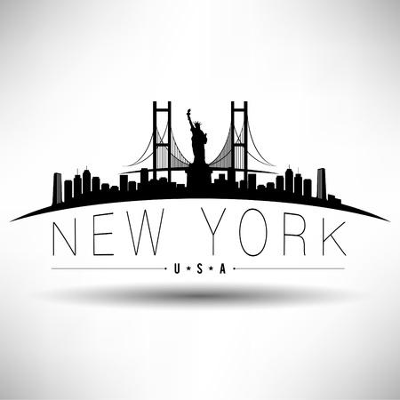 Illustration pour New York Typography Design - image libre de droit