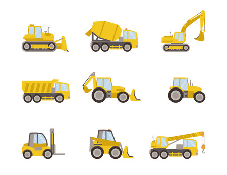 Illustration pour set of heavy equipment icons - image libre de droit