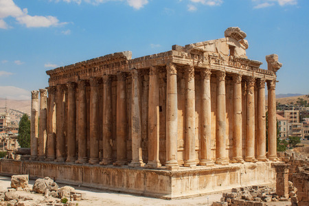 Photo for Bacchus temple at the Roman ancient ruins of Baalbek, Lebanon - Royalty Free Image