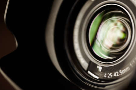professional high definition camcorder in close up, selective focus,shallow depth of field