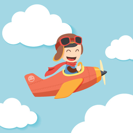 Ilustración de Pilot Boy - Imagen libre de derechos