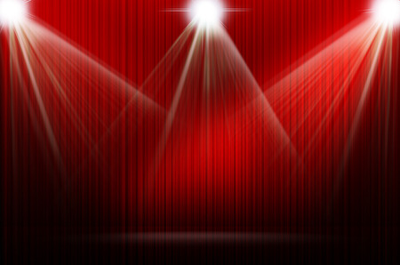 Photo for red stage light as background - Royalty Free Image