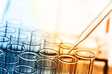 Photo for science laboratory test tubes - Royalty Free Image