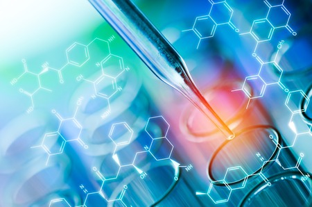 Foto de science laboratory test tubes - Imagen libre de derechos
