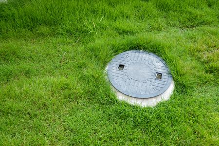 Photo pour Septic tank underground waste treatment system - image libre de droit