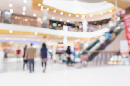 Photo for Abstract blur modern shopping mall interior defocused background - Royalty Free Image