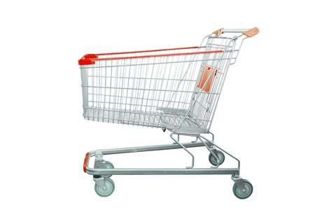 Photo for shopping cart isolated on white background - Royalty Free Image