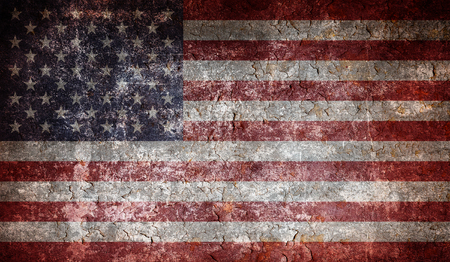 Photo for Old grunge USA flag - Royalty Free Image