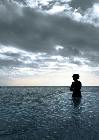 Girl in Lagoon