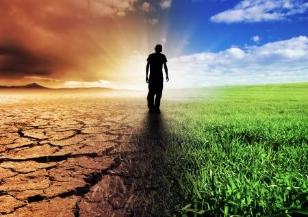 Photo pour A Climate Change Concept Image - image libre de droit