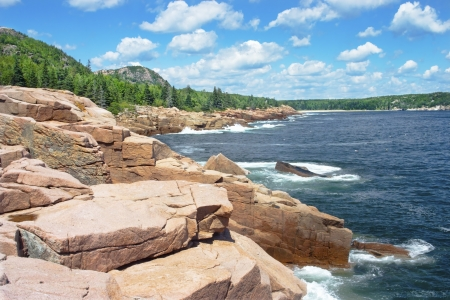 Photo for Beautiful summer day on the shores of Acadia National Park, Mount Desert Island, Maine  - Royalty Free Image