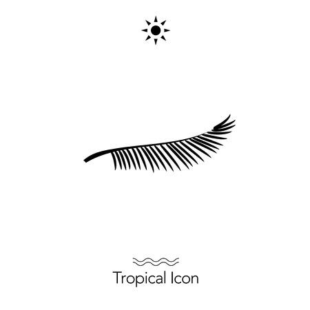 Ilustración de Tropical icon silhouette - Imagen libre de derechos