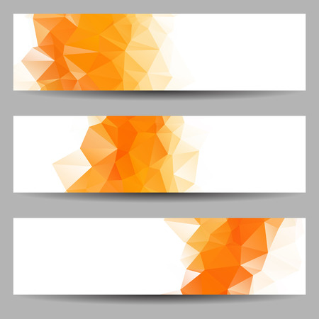 Photo for Set of banners with abstract geometrical triangles - Royalty Free Image