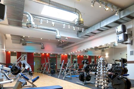 Foto de Gym and fitness - weights and equipment - Imagen libre de derechos