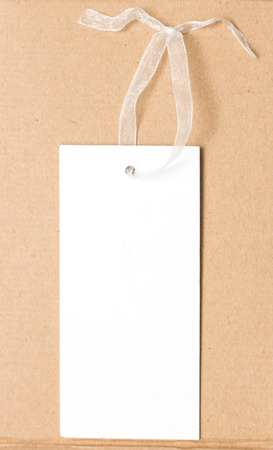 White paper tag