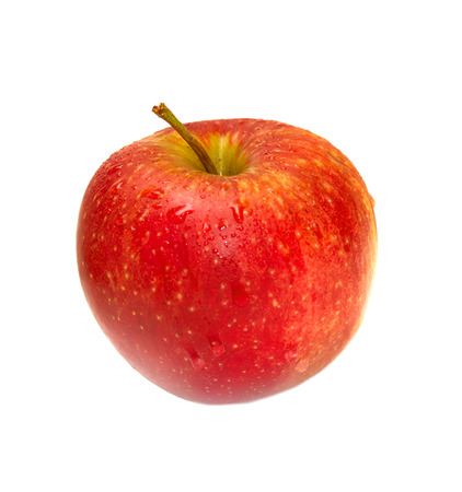 Photo for red apple isolated on white background - Royalty Free Image