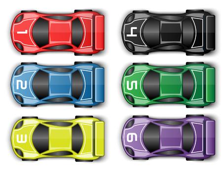 Ilustración de RACE CARS TUNING - Imagen libre de derechos