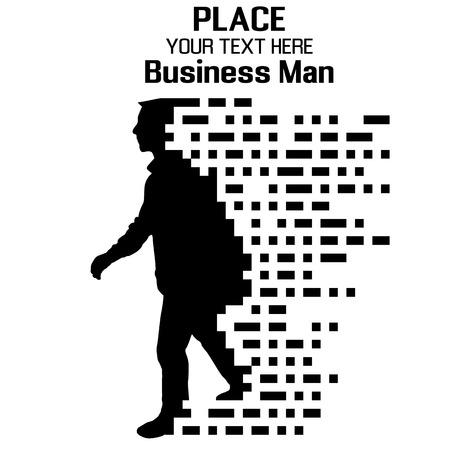 Ilustración de Business Man, particle divergent composition, vector illustration - Imagen libre de derechos