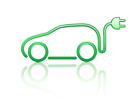 Photo for  illustration of electric powered car symbol - Royalty Free Image