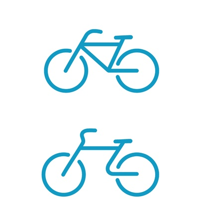 illustration of Simple bicycle icons