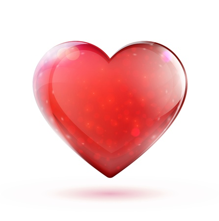 beautiful red glossy heart shape