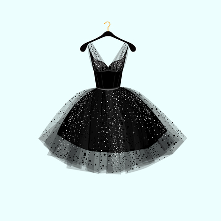 Illustrazione per Little black dress. Vector illustration - Immagini Royalty Free