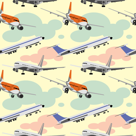 planes pattern mural