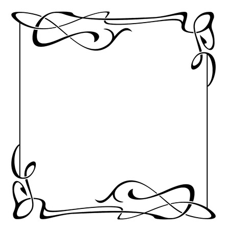 Illustration pour Elegant black and white frame - image libre de droit