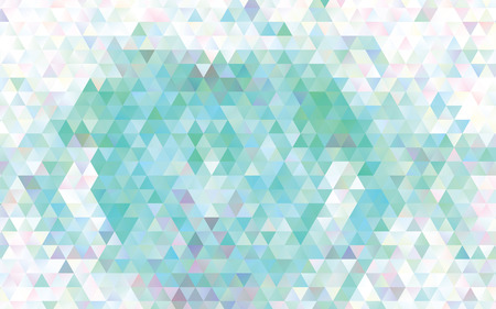 Illustrazione per Low poly mosaic background. Template design, list, front page, brochure layout, banner, idea, cover, print, flyer, book, blank, card, ad, sign, sheet. Copy space. Vector clip art. - Immagini Royalty Free