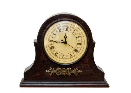 Foto de Very Old Retro Antique Clock -  isolated on white background  - Imagen libre de derechos