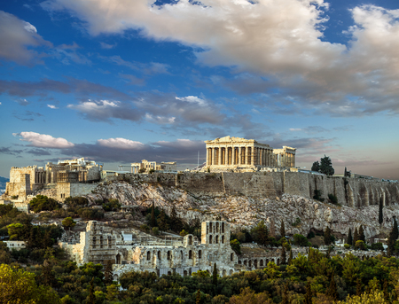 Foto per Parthenon, Acropolis of Athens, Under the sky of Greece - Immagine Royalty Free