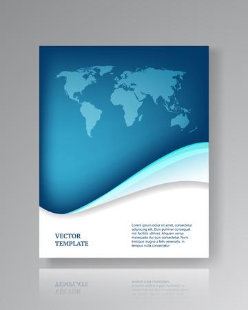 Illustration pour Modern paper template for flyers corporate brochures book covers layouts presentations etc.  - image libre de droit