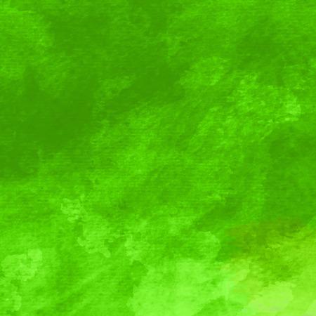 Ilustración de Watercolor background. Handmade texture. Bright acid green color. Vector illustration. - Imagen libre de derechos