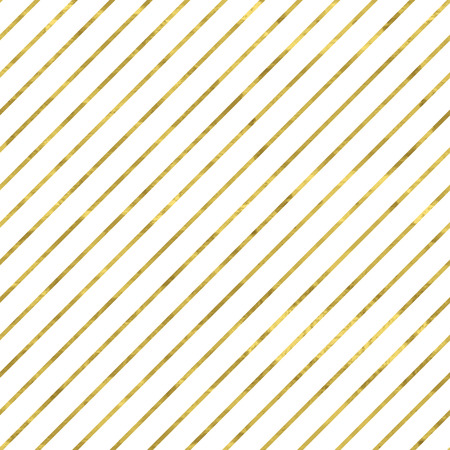 Illustration for White and gold  pattern. Abstract geometric modern background. Vector illustration.Shiny backdrop. Texture of gold foil. Classic wallpaper with stripes. - Royalty Free Image