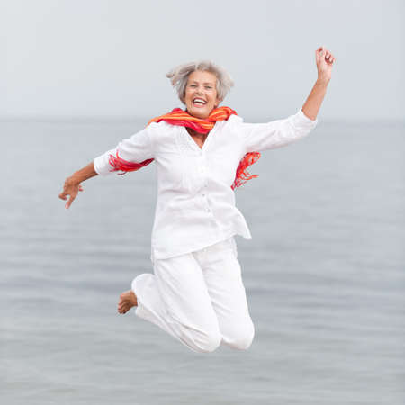 Photo for Active and happy senior woman - Royalty Free Image