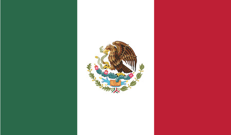 Illustration for Mexico.vector flag of the independent state - Royalty Free Image