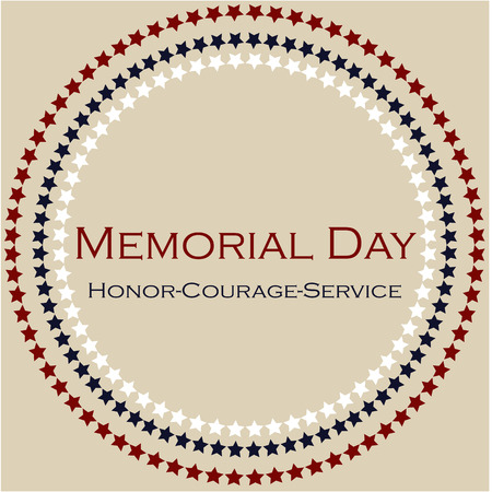 Illustration pour Colored background with text and elements for memorial day. Vector illustration - image libre de droit