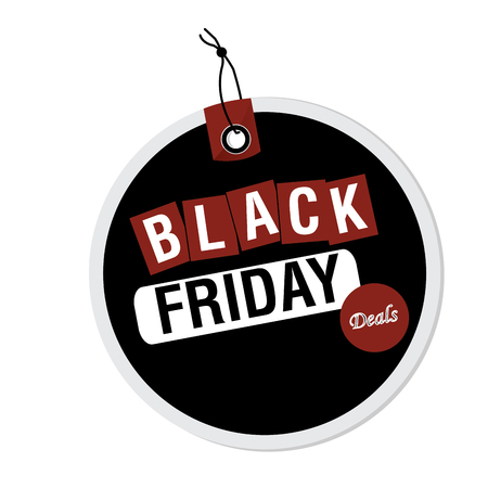 Isolated label with text for black friday sales