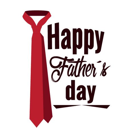 Illustration pour Happy fathers day graphic design, Vectro illustration - image libre de droit