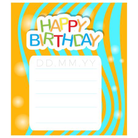Illustration pour Happy birthday textured invitational card, Vector illustration - image libre de droit